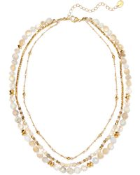 Chan Luu - Layered Gold-tone Stone Necklace Gold One Size - Lyst