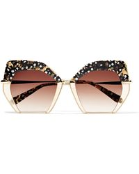 Krewe - Octavia Square-frame Acetate And Gold-plated Sunglasses - Lyst