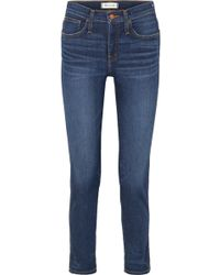 Madewell - The Slim Distressed High-rise Jeans - Lyst