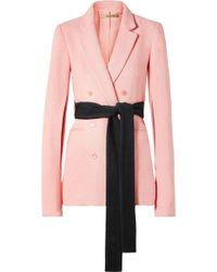 Hellessy - Willow Double-breasted Canvas Blazer - Lyst