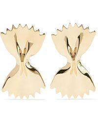 Alison Lou | Large Bowtie 14-karat Gold Earrings | Lyst