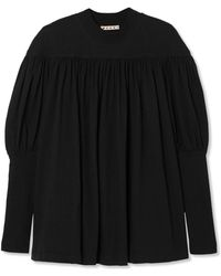 Marni - Ruched Cotton-jersey Top - Lyst