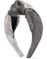 Eugenia Kim - Maryn Knotted Two-tone Lamé Headband - Lyst