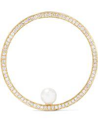 Anissa Kermiche - Reine 14-karat Gold, Diamond And Pearl Earring - Lyst