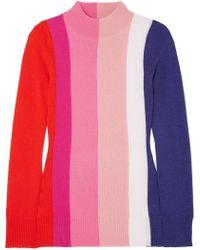 Paper London - Dolly Striped Wool Turtleneck Jumper - Lyst