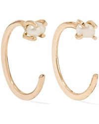 Melissa Joy Manning - 14-karat Gold Pearl Earrings - Lyst