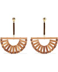 Cult Gaia - Ark Bamboo And Gold-tone Earrings - Lyst