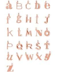 Monica Vinader - A-z Alphabet Letter Rose Gold Vermeil Pendants Rose Gold S - Lyst