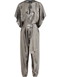 Norma Kamali - Rectangle Stretch-lamé Jumpsuit - Lyst