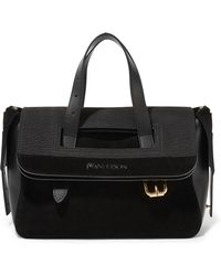 J.W.Anderson - Tool Mini Suede, Nubuck And Leather Tote - Lyst