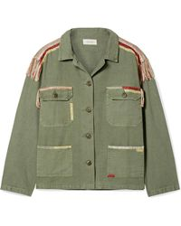 The Great - The Sergeant Embroidered Cotton-canvas Jacket - Lyst