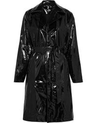 Rains - Glossed-pu Trench Coat - Lyst