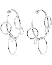 Jennifer Fisher - Quad Hoops Silver-plated Earrings - Lyst