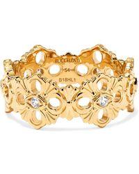 Buccellati - Opera Eternelle 18-karat Gold Diamond Ring - Lyst