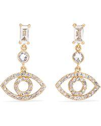 Ileana Makri - Empty Eyes 18-karat Gold, Sapphire And Diamond Earrings - Lyst