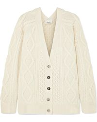 3.1 Phillip Lim - Cable-knit Wool Cardigan - Lyst