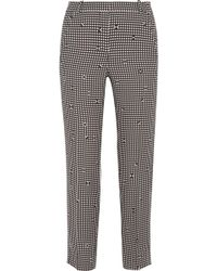 Carven - Checked Crepe Slim-leg Trousers - Lyst