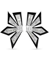Stephen Webster - 18-karat White Gold, Enamel And Diamond Earrings - Lyst