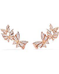 Stephen Webster - Fly By Night 18-karat Rose Gold Diamond Earrings - Lyst