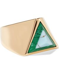 Fendi - Gold-tone Resin Ring - Lyst