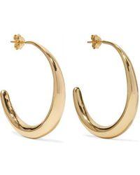 Dinosaur Designs - Louise Olsen Large Liquid Gold-plated Hoop Earrings - Lyst