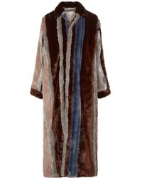Y. Project - Paneled Faux Fur And Tartan Twill Coat - Lyst