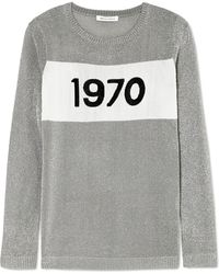 Bella Freud - Sparkle 1970 Metallic Knitted Sweater - Lyst