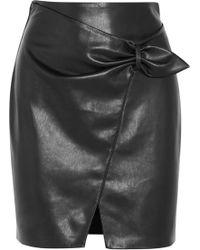 Nanushka | Cascade Faux Leather Mini Skirt | Lyst