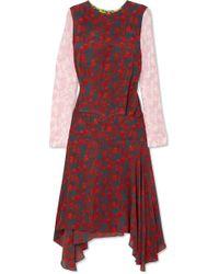 Preen Line - Eimear Paneled Printed Crepe Midi Dress - Lyst