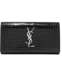 Embellished Lizard-effect Patent-leather Wallet - Black Dolce & Gabbana 5qOTrbG