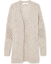 IRO - Air Cable-knit Wool-blend Cardigan - Lyst