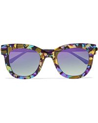 Thierry Lasry | Sexxxy Cat-eye Acetate And Gold-tone Sunglasses | Lyst