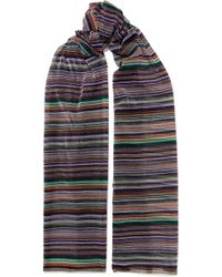Missoni - Striped Metallic Crochet-knit Wrap - Lyst