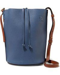 Loewe - Gate Textured-leather Bucket Bag - Lyst