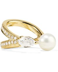 Anissa Kermiche - Perle Rare 14-karat Gold Multi-stone Ear Cuff - Lyst