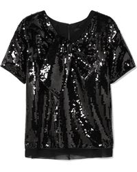 Marc Jacobs - Satin-paneled Sequined Georgette Top - Lyst