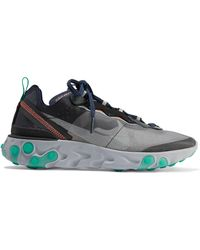 b710081ab639 Nike - React Element 87 Microsuede-trimmed Ripstop Sneakers - Lyst