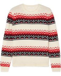 Chinti & Parker - Fair Isle Cashmere And Wool-blend Sweater - Lyst