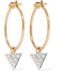 I+i - 14-karat Gold Diamond Earrings - Lyst