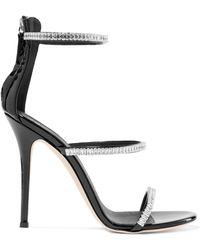 Giuseppe Zanotti - Harmony Crystal-embellished Patent-leather Sandals - Lyst