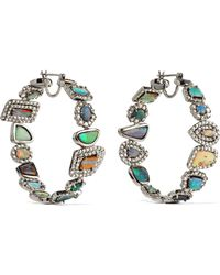 Kimberly Mcdonald - 18-karat White Gold, Opal And Diamond Earrings - Lyst