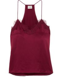Cami NYC - The Racer Lace-trimmed Silk-charmeuse Camisole - Lyst