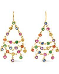Marie-hélène De Taillac - Dancing Emilie 22-karat Gold Multi-stone Earrings - Lyst