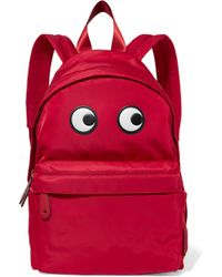 Anya Hindmarch - Eyes Appliquéd Shell Backpack - Lyst