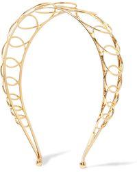 LELET NY - Infinity Gold-plated Headband - Lyst