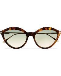 Tom Ford - Cat-eye Tortoiseshell Acetate And Gold-tone Sunglasses Tortoiseshell One Size - Lyst