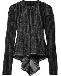 Proenza Schouler - Ribbed Stretch-knit Peplum Sweater - Lyst