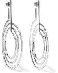 Jennifer Fisher - + Off-white Silver-plated Earrings - Lyst