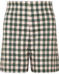 Silvia Tcherassi - Sellian Gingham Cotton-blend Shorts - Lyst