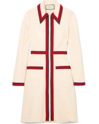 Gucci - Grosgrain-trimmed Stretch-crepe Dress - Lyst